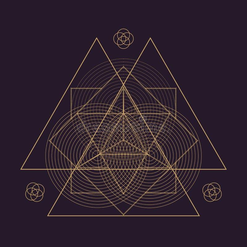 ilustração sagrado da geometria da mandala do vetor ilustração royalty free