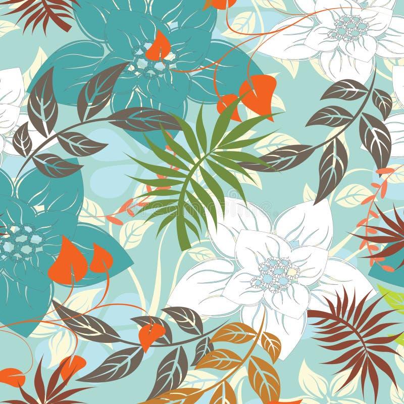 Ilustração sem emenda da flor da mola foto de stock