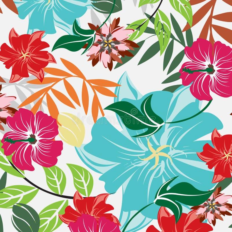 Ilustração sem emenda da flor da mola fotos de stock royalty free