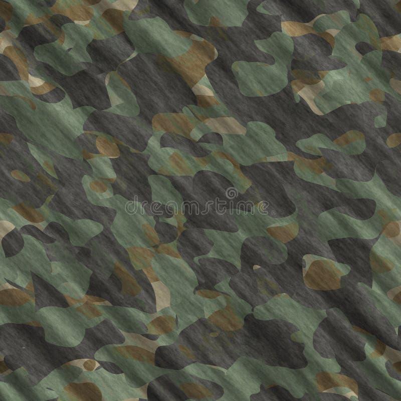 Ilustração sem emenda do fundo do teste padrão da camuflagem Cópia clássica da repetição do camo do mascaramento do estilo da rou ilustração do vetor