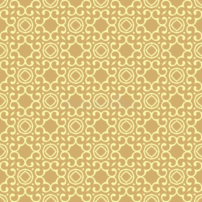 Ilustração sem emenda do teste padrão do fundo do projeto bonito absoluto do fundo na cor amarelada do camelo ilustração royalty free