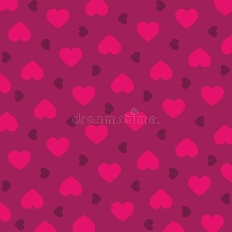 Ilustração sem emenda do vetor do teste padrão do coração do amor ilustração do vetor