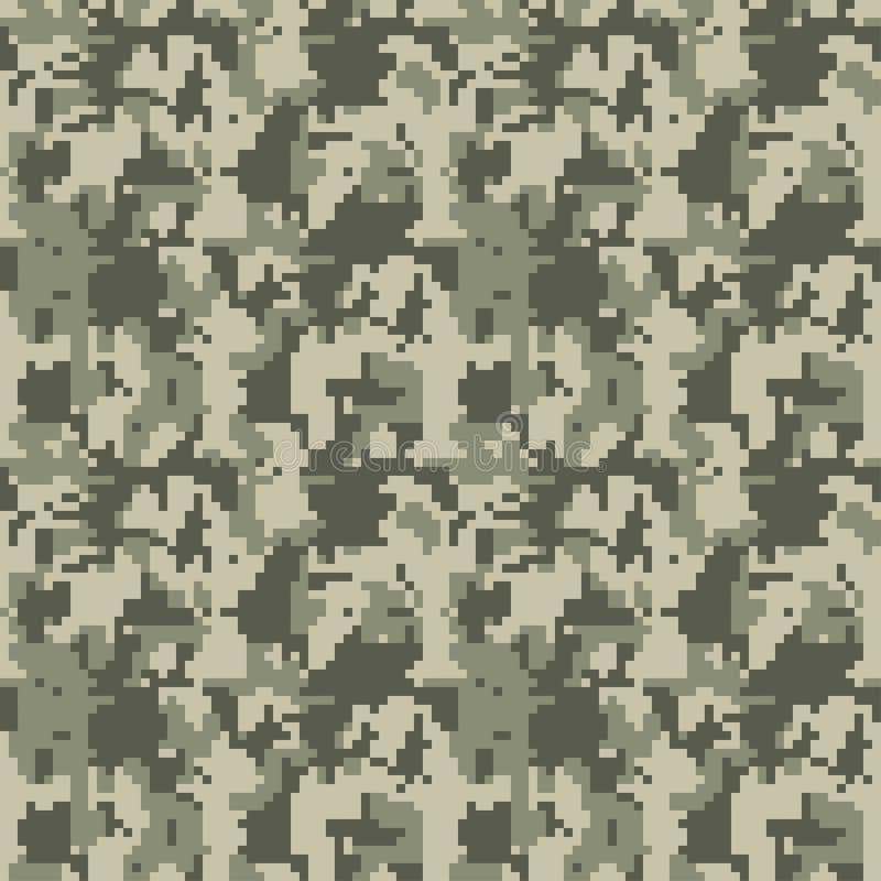Ilustração sem emenda do vetor do teste padrão da camuflagem para imprimir no pano, matéria têxtil, papel de parede, papel, envol ilustração royalty free