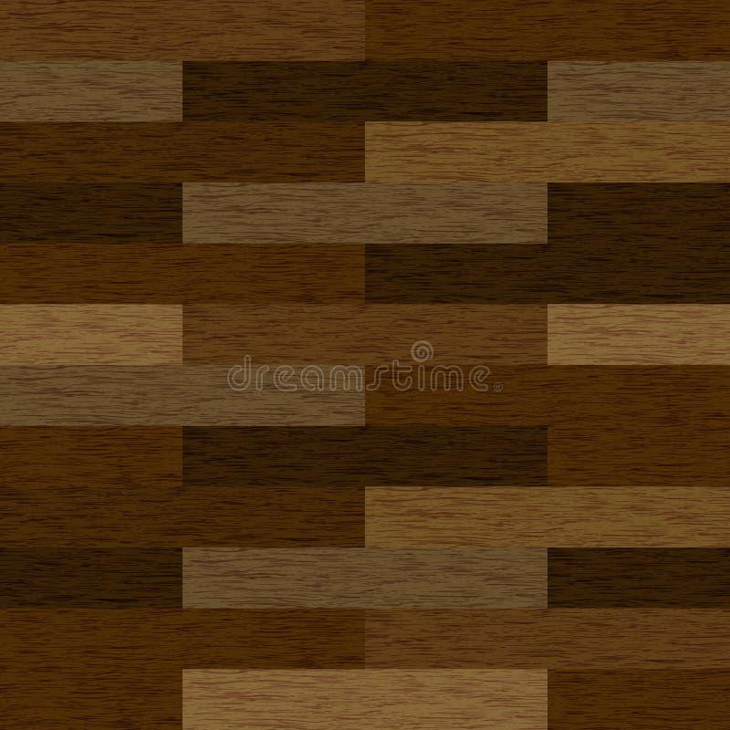 Ilustração sem emenda realística das texturas do parquet de madeira ou ilustração do vetor