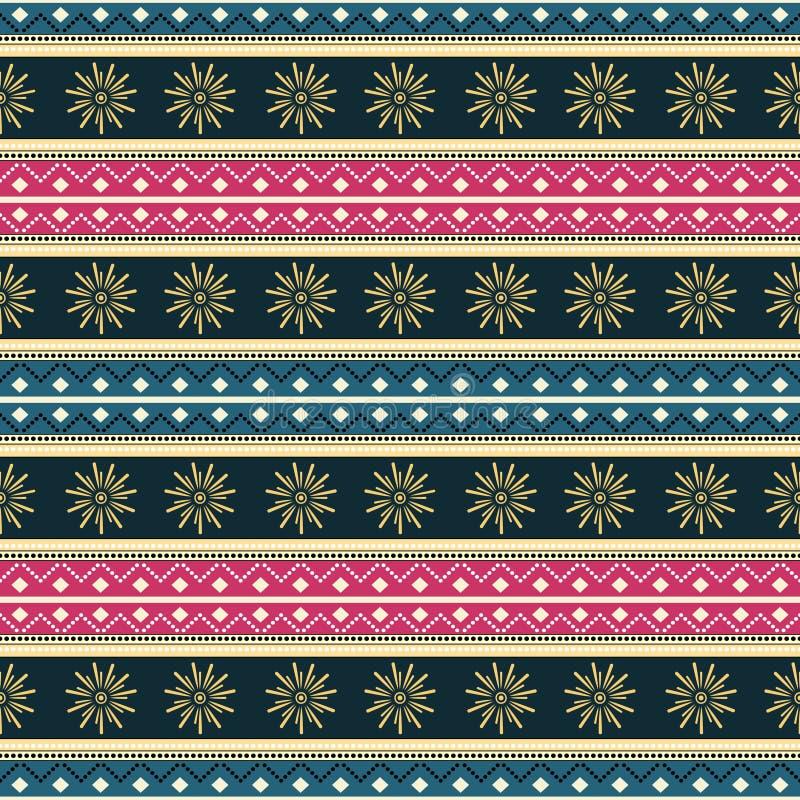 Ilustração sem emenda tribal étnica do vetor do teste padrão, sumário da mandala, vintage africano asteca do fundo do estilo das  ilustração do vetor