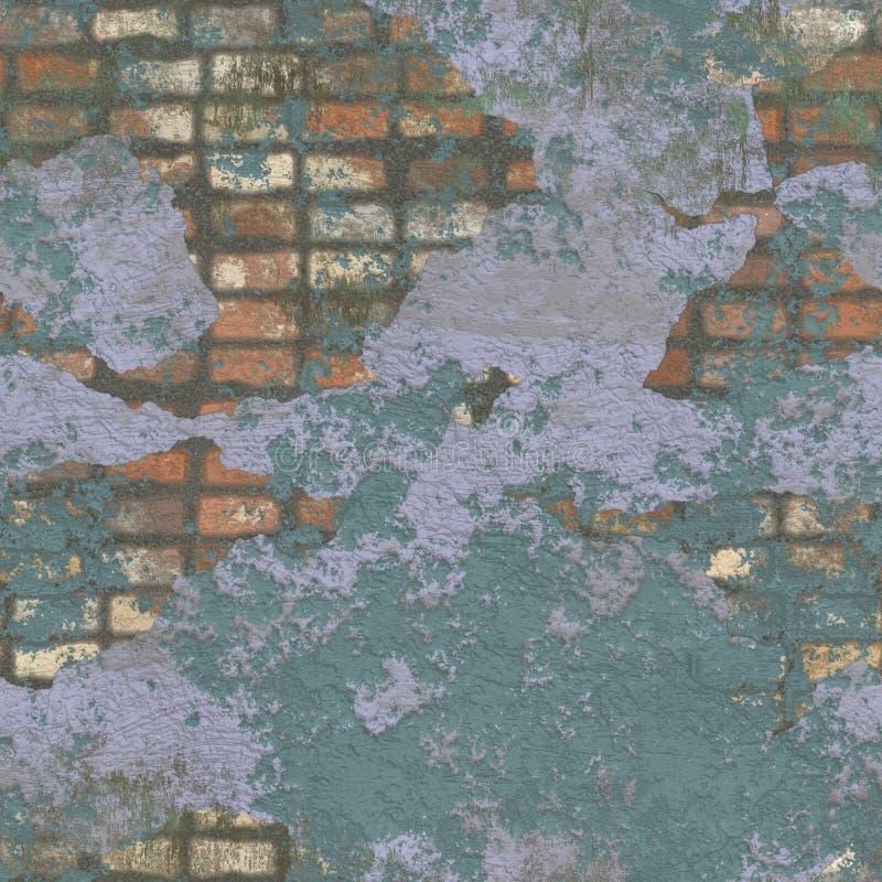 Ilustração sem emenda velha da textura ou do fundo da parede de tijolo ilustração stock