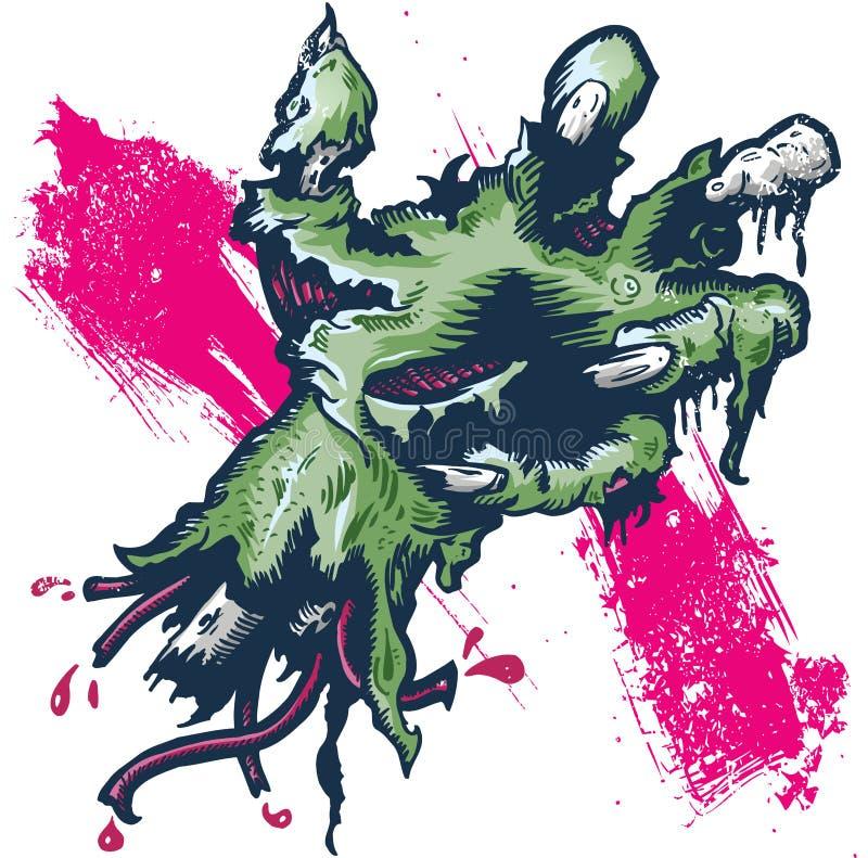 Ilustração separada de Halloween da mão rotting ilustração do vetor