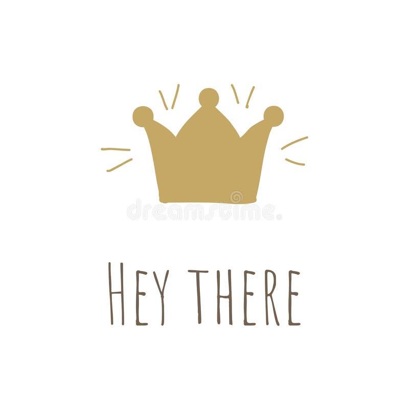 Ilustração simples com coroa da princesa ilustração do vetor