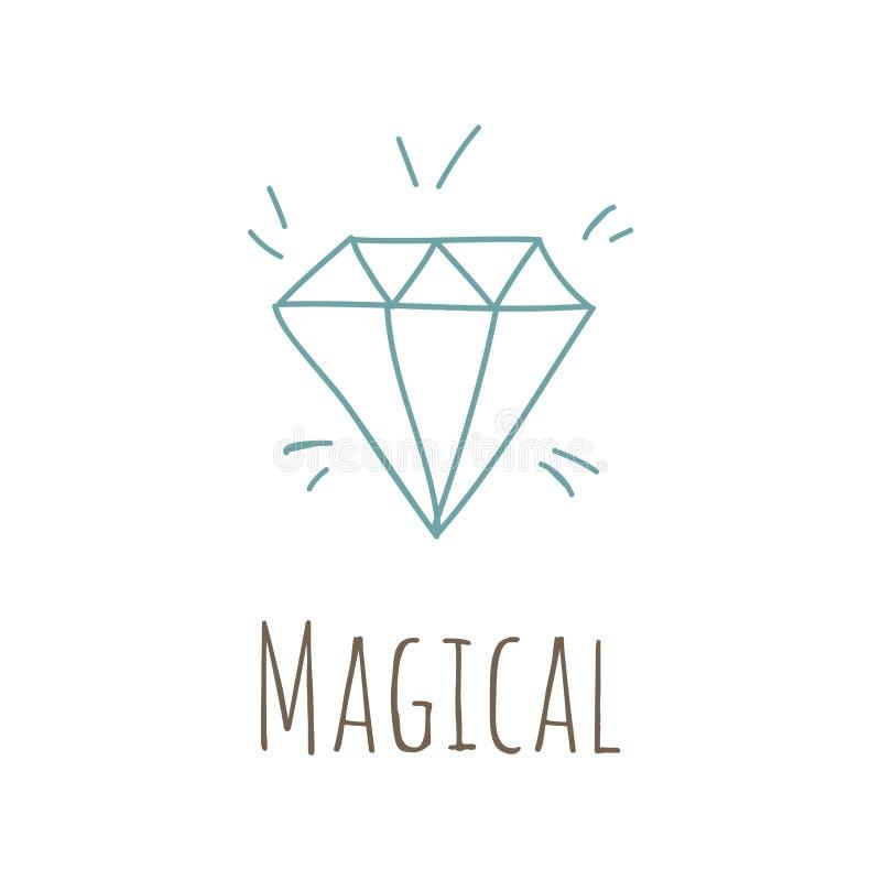 Ilustração simples com diamante ilustração royalty free