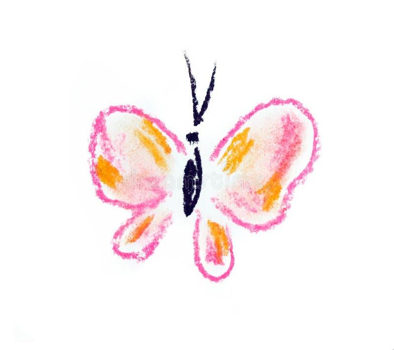 Ilustração simples da borboleta violeta
