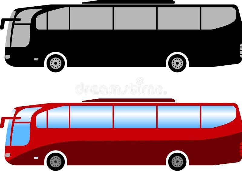 Ilustração simples do ônibus do treinador ilustração do vetor