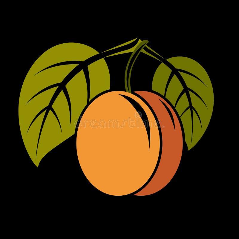 A ilustração simples do alimento biológico do vegetariano, vector a laranja madura ilustração royalty free