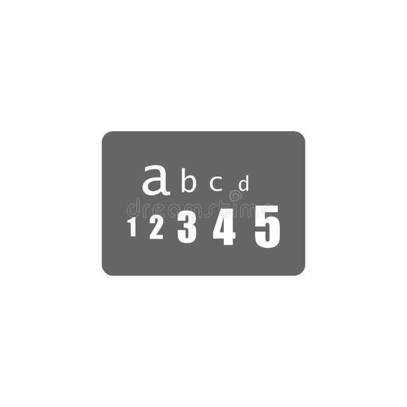 Ilustração simples do elemento do ícone do teste do olho da tabela Projeto do símbolo da coleção médica Pode ser usado na Web e n ilustração stock