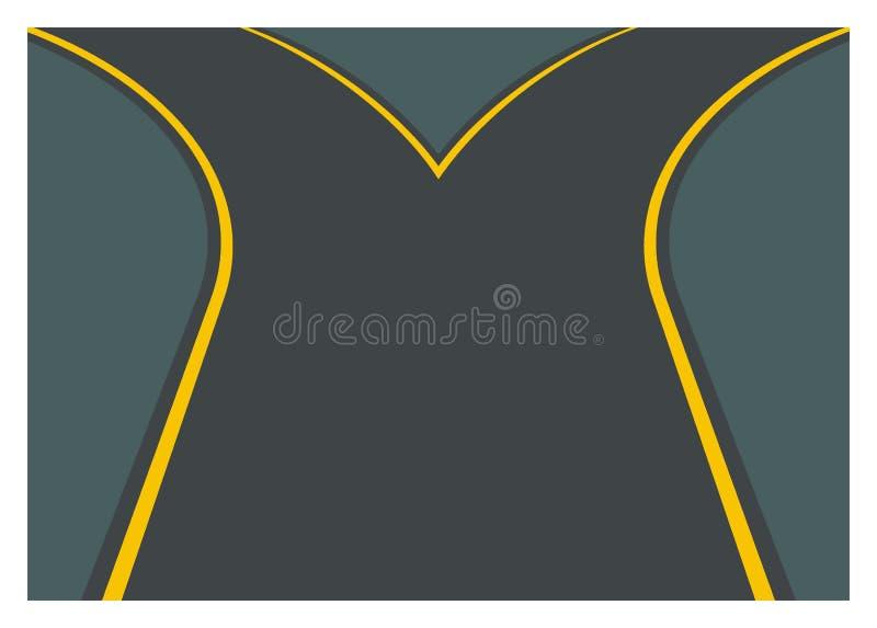 Ilustração simples do ramo da estrada ilustração do vetor