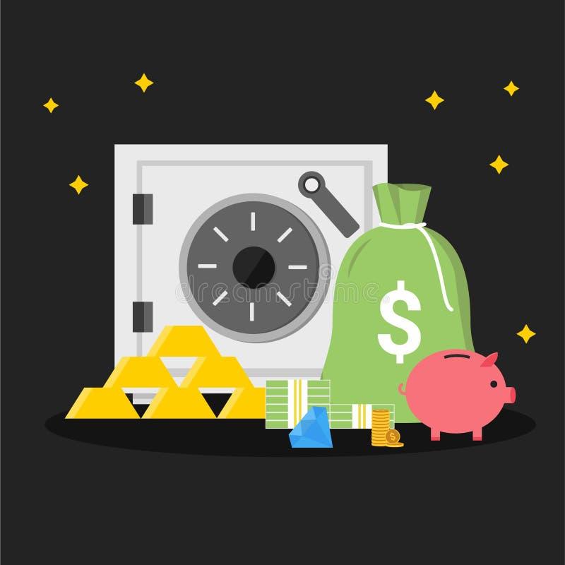Ilustra??o simples do vetor da finan?a ilustração do vetor