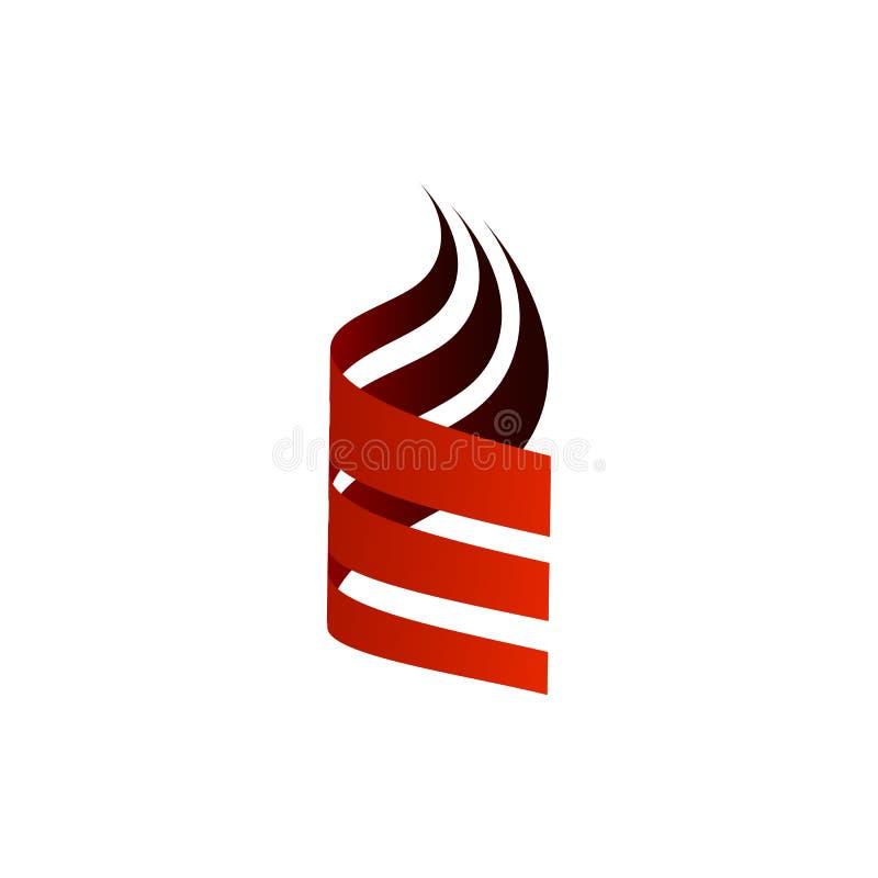Ilustração simples original do vetor do logotipo do swoosh do sumário três ilustração do vetor