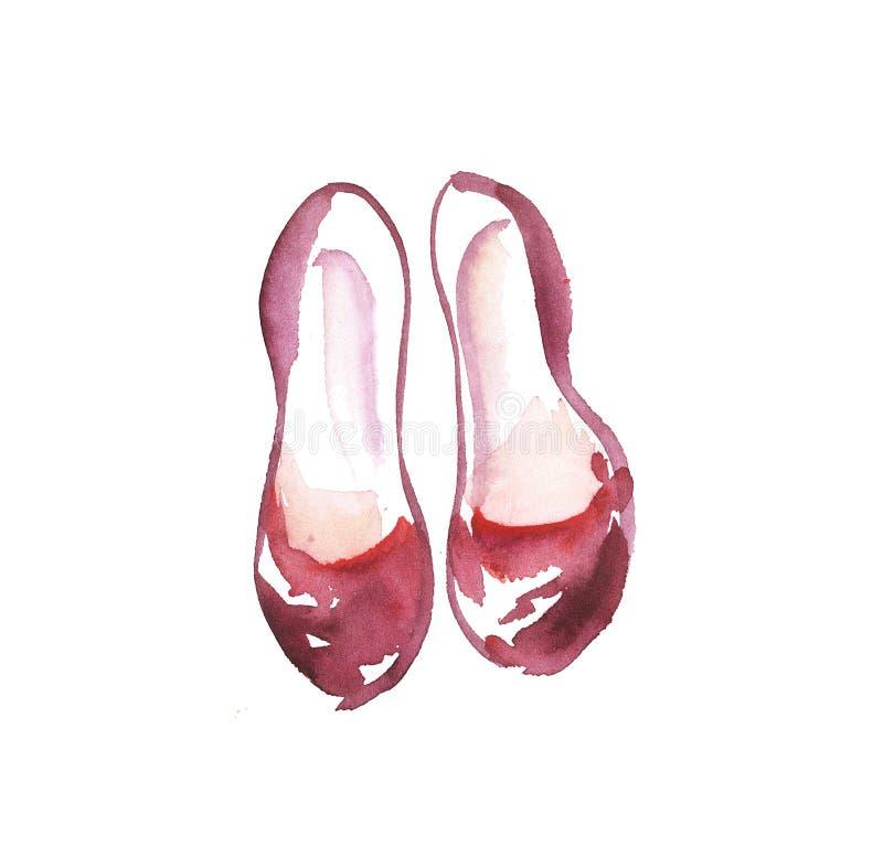Ilustração simples tirada mão das sapatas ilustração stock
