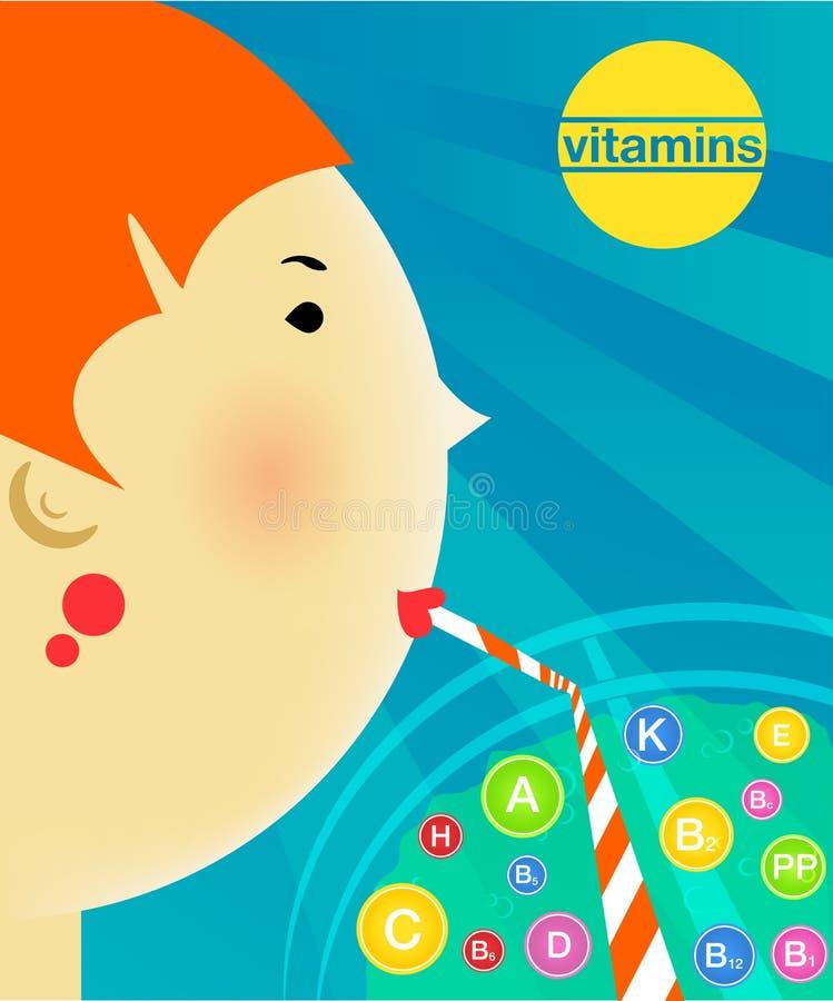 Ilustração sobre uma dieta, estilo de vida saudável ilustração do vetor