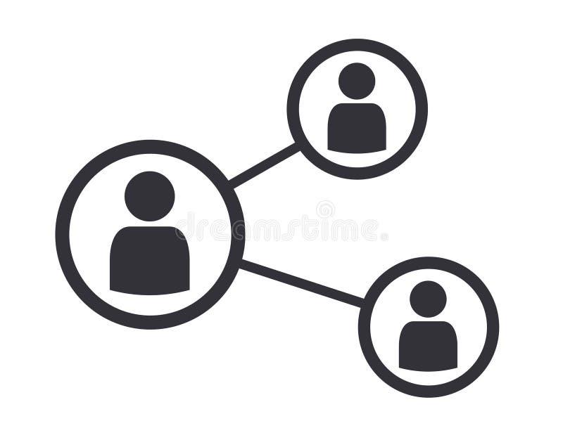 Ilustração social do vetor do ícone da conexão do negócio dos trabalhos em rede ilustração stock