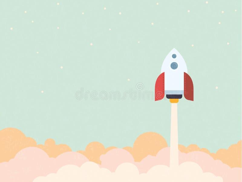 Ilustração Startup do vetor do estilo do vintage do conceito ilustração royalty free