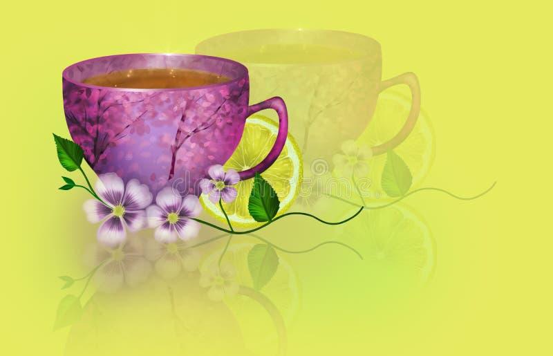 Ilustração Sunny Breakfast ilustração do vetor