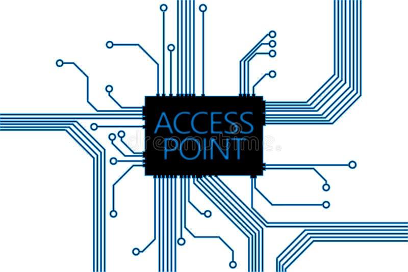 Ilustração superior da tecnologia do ponto de acesso imagem de stock royalty free