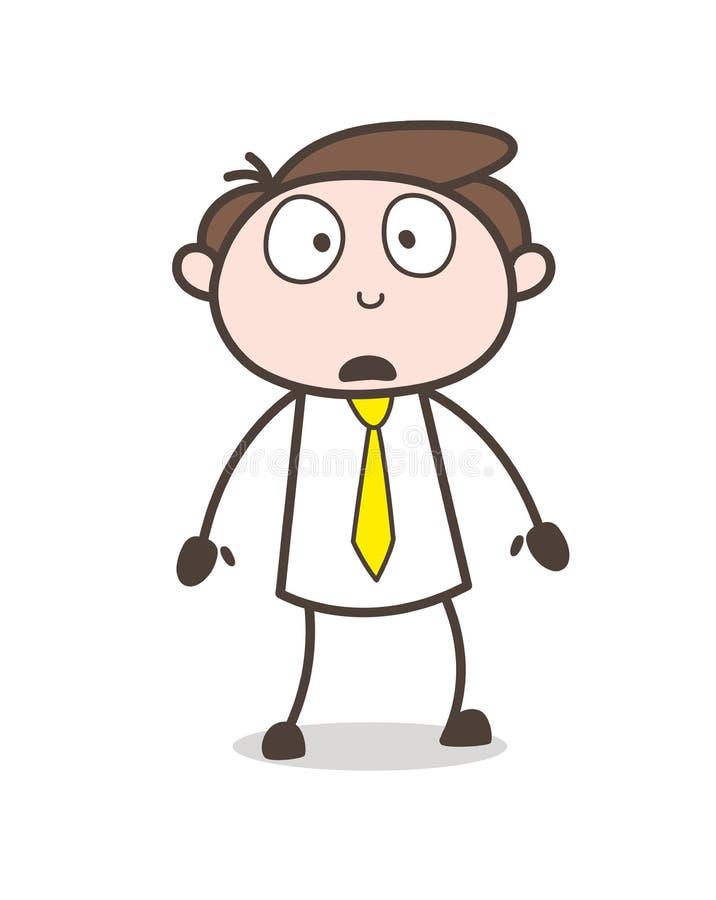 Ilustração temível do vetor da expressão da cara do caráter do escritório ilustração royalty free