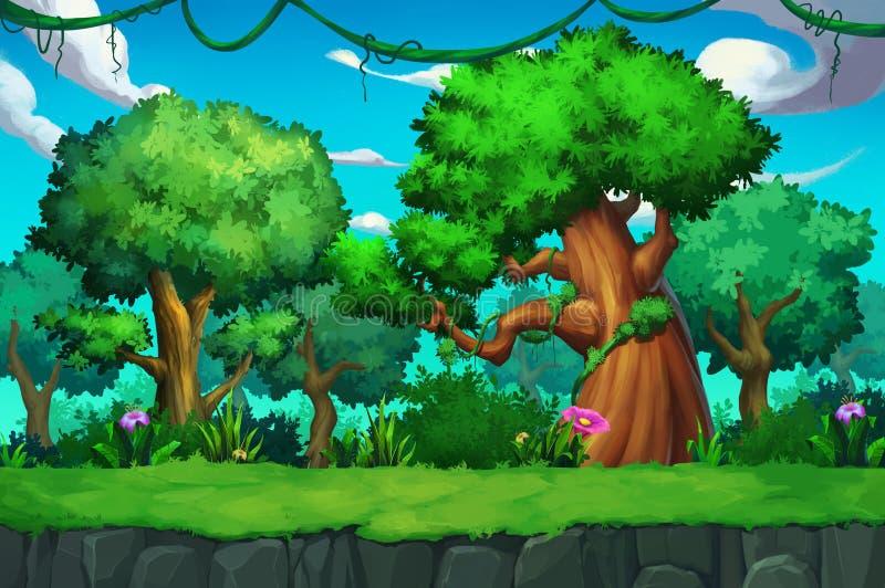 Ilustração: A terra da árvore ilustração royalty free