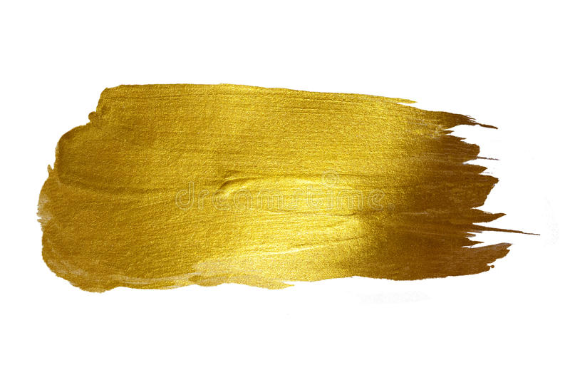 Ilustração tirada mão de brilho da mancha da pintura do ouro fotografia de stock royalty free
