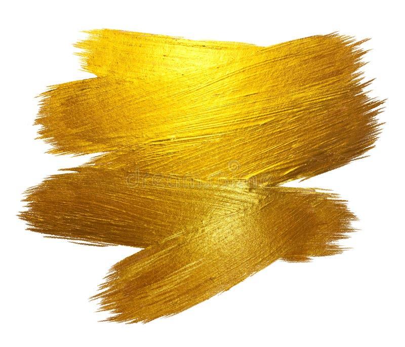 Ilustração tirada mão de brilho da quadriculação da mancha da pintura do curso da folha de ouro Ilustração branca fotos de stock royalty free