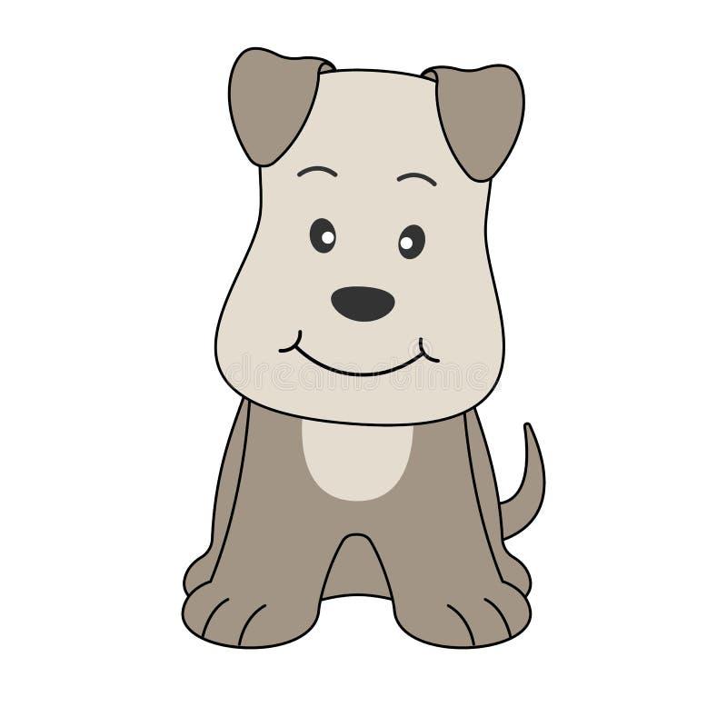 Ilustração tirada mão do vetor de um terrier engraçado bonito do cão ilustração stock