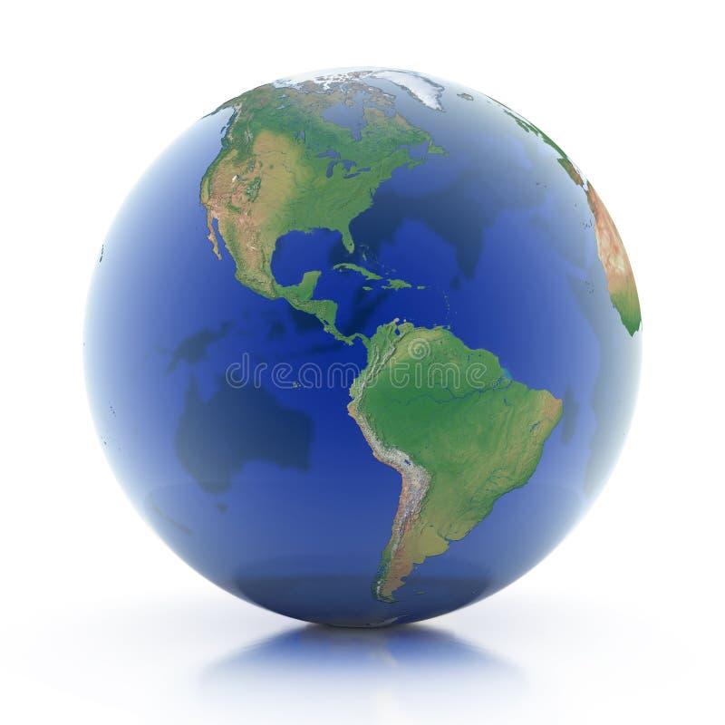 Ilustração transparente do globo 3d ilustração royalty free