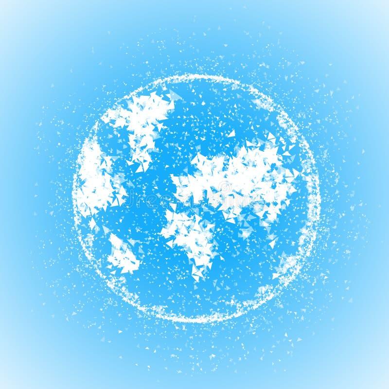 Ilustração triangular do globo do mundo do vetor ilustração stock