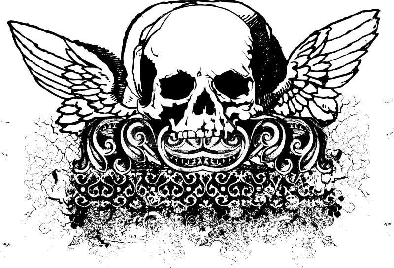 Ilustração tribal do crânio ilustração royalty free