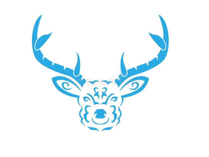 Ilustração tribal dos cervos ilustração royalty free