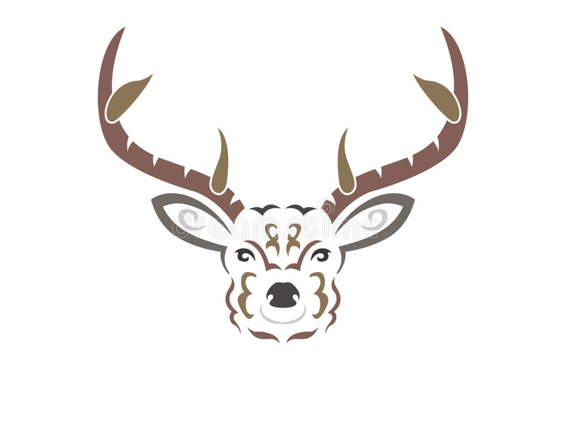 Ilustração tribal dos cervos da cor ilustração stock