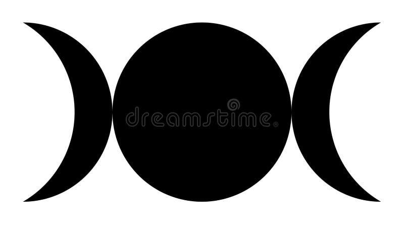 Ilustração tripla do símbolo da deusa ilustração stock