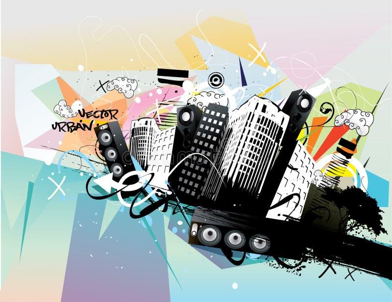 Ilustração urbana ilustração do vetor