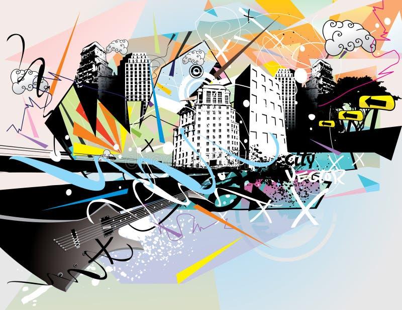 Ilustração urbana ilustração royalty free