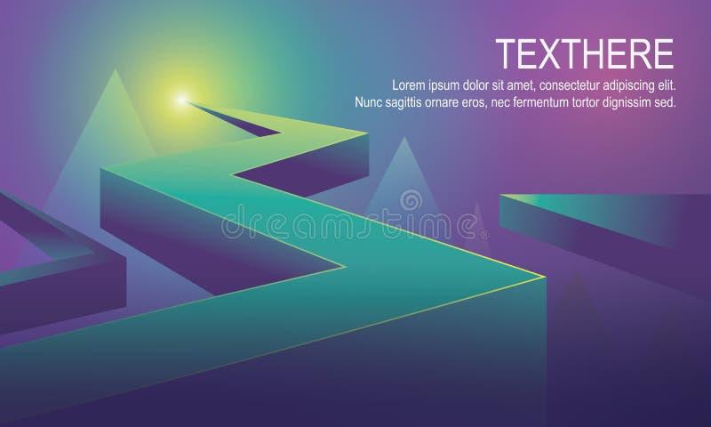 ilustração vívida azul brilhante do vetor do fundo 3d imagem de stock royalty free