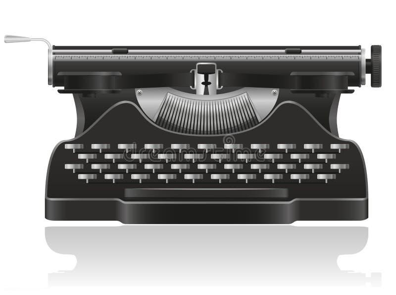 Ilustração velha da máquina de escrever ilustração royalty free