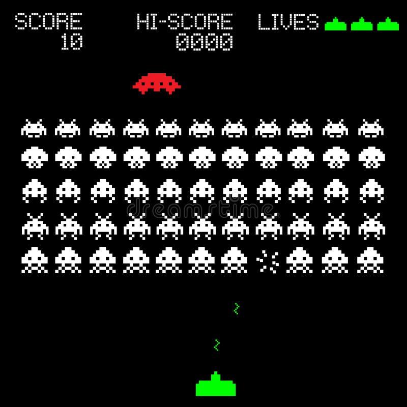 Ilustração velha do jogo de computador ilustração royalty free