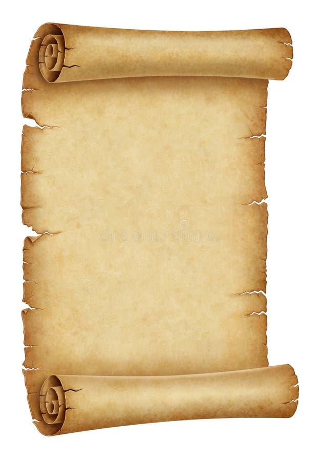 Ilustração velha do papel do rolo ilustração do vetor