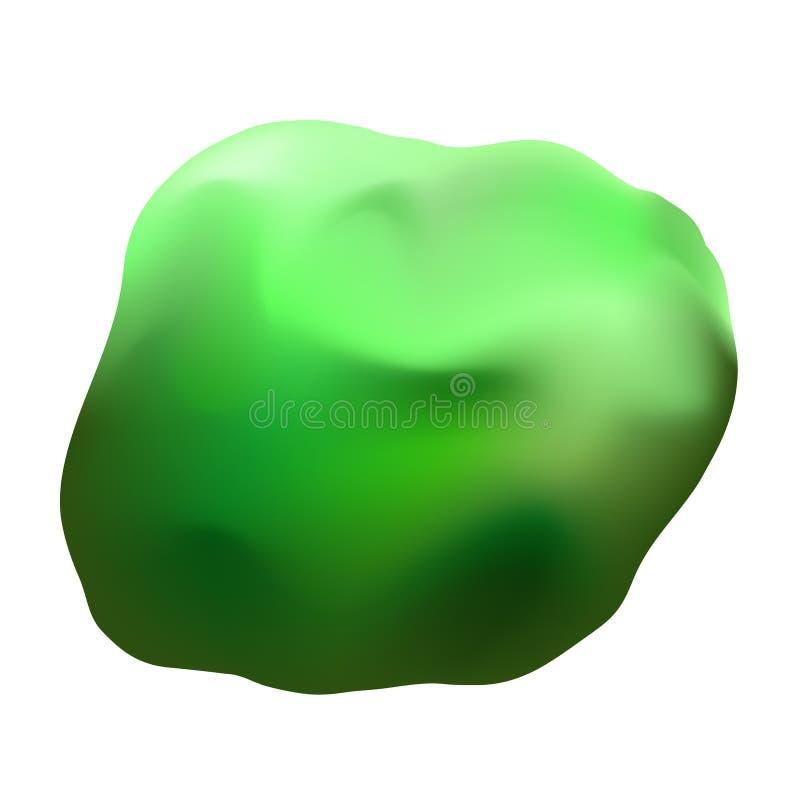 Ilustração verde da argila ilustração royalty free