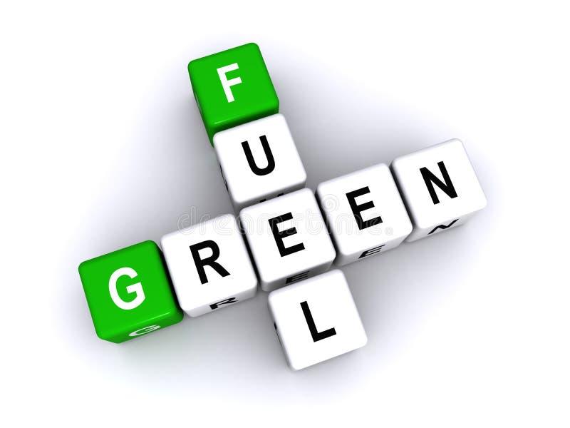 Ilustração verde do combustível ilustração stock