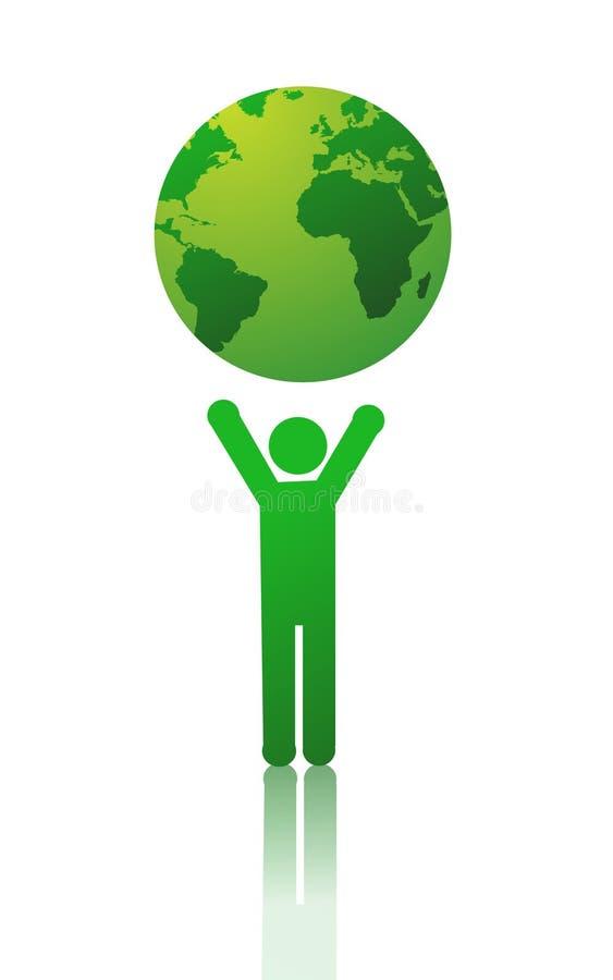 Ilustração verde do vetor do planeta ilustração royalty free