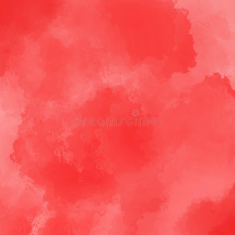 Ilustração vermelha da aquarela Arte abstrata Fundo brilhante bonito da abstração Pode ser usado como livros de crianças, cartões ilustração do vetor