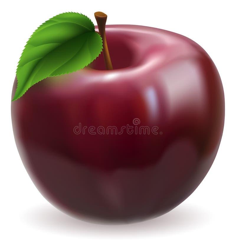 Ilustração vermelha da maçã ilustração do vetor