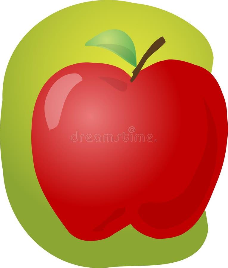 Ilustração vermelha da maçã ilustração royalty free