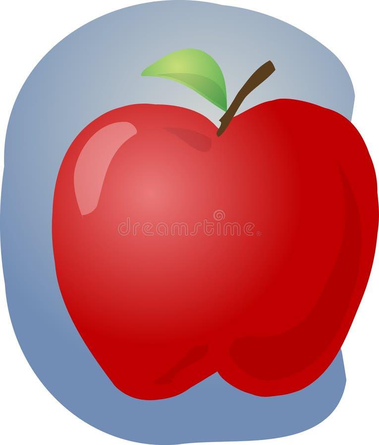 Ilustração vermelha da maçã ilustração stock